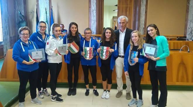 premiazione atlete a latina