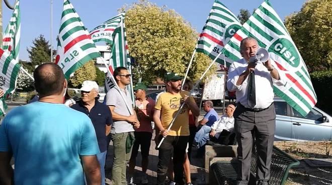 Autostrada Roma-Latina Cecere Cisl manifestazione