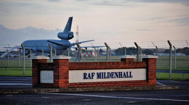 base raf gb-usa mildenhall suffolk inghilterra