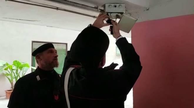imianto videosorveglianza nascosto ostia carabinieri