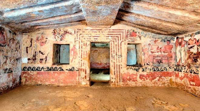 tomba degli scudi necropoli tarquinia