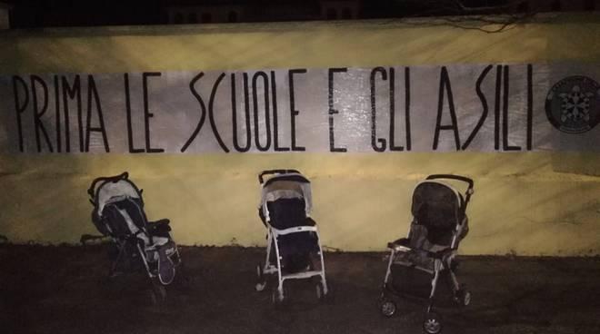 ostia casapound scuole asili protesta