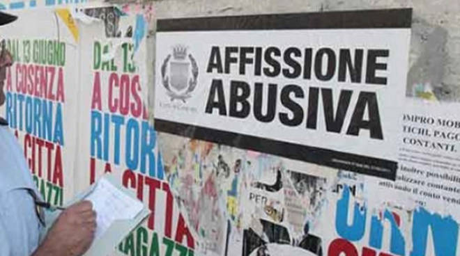 affissioni abusive