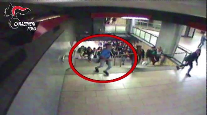 casilina aggressione metro