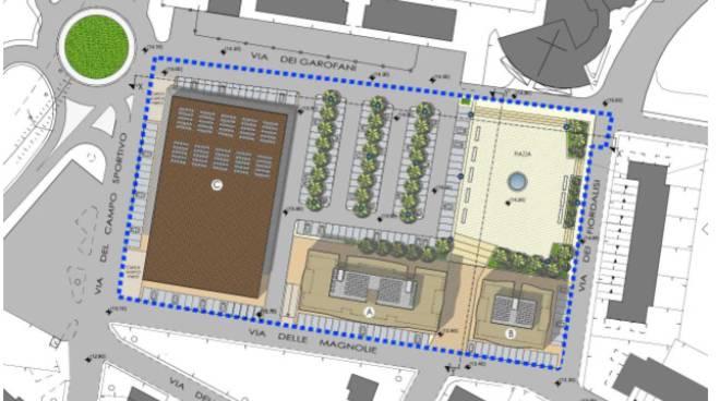 Ladispoli progetto Piazza Grande