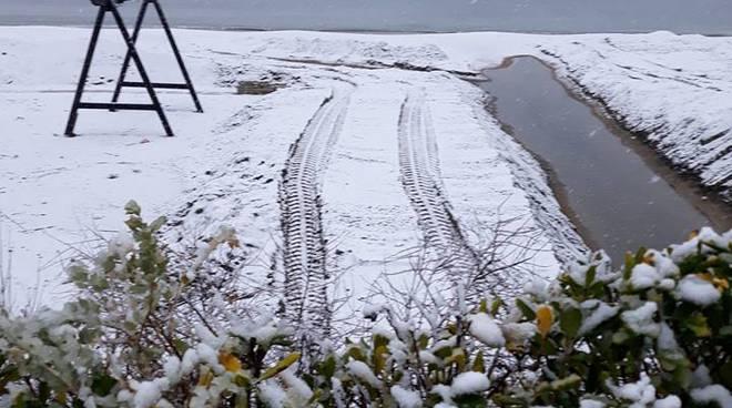 Neve in spiaggia, Minturno