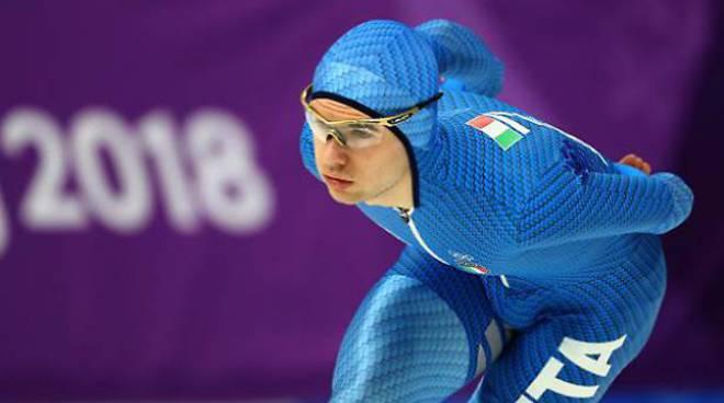 PyeongChang, Tumolero bronzo nei 10.000 m pattinaggio velocità