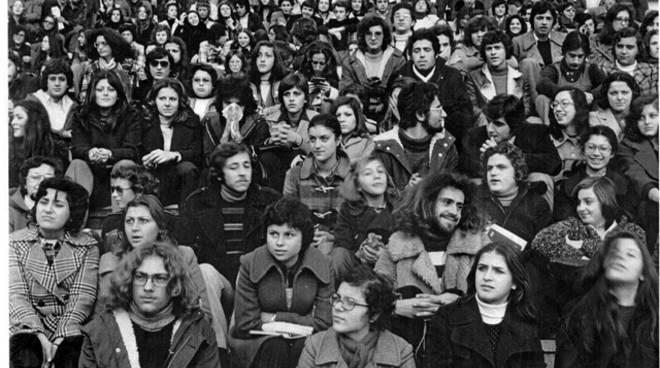 """Assemblea non autorizzata degli studenti del Vitruvio Pollione di Formia, dicembre""""73"""