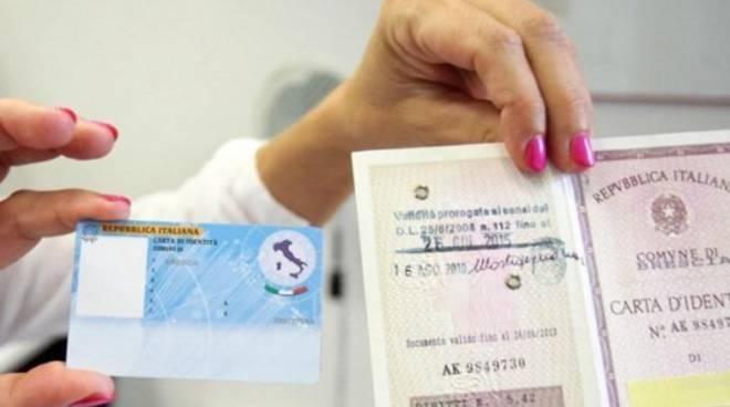 Carta identità elettronica e cartacea