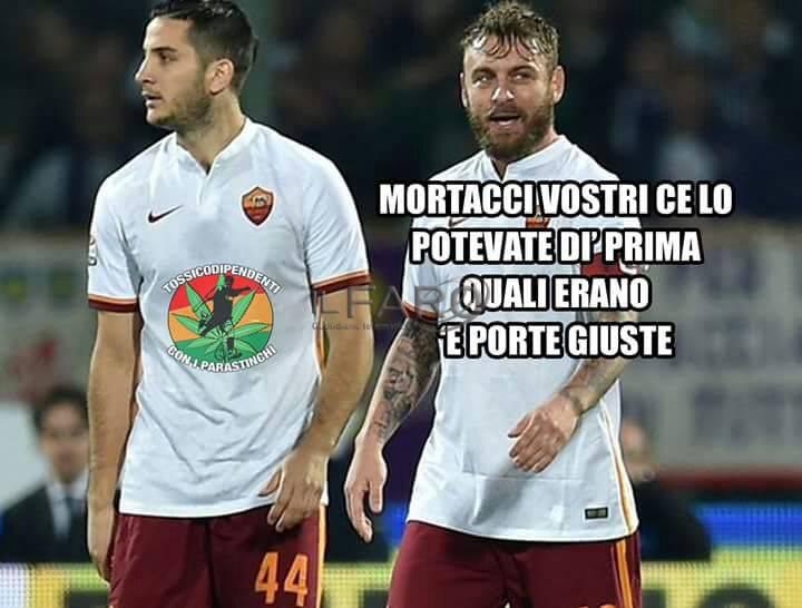 10 aprile 2018 Roma Barcellona 3-0, la Magica fa l'impresa e sui social e su whatsapp si scatena l'ironia