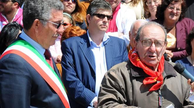 Anzio festa liberazione sindaco Bruschini e Mario Battistini