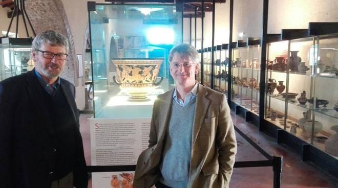 Cerveteri visita studiosi americani Richard Hodges e Thomas P. Campbell