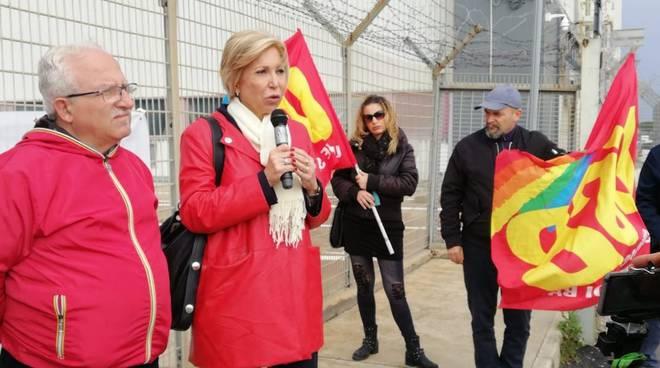 Fiumicino Anselmi presidio lavoratori Iac