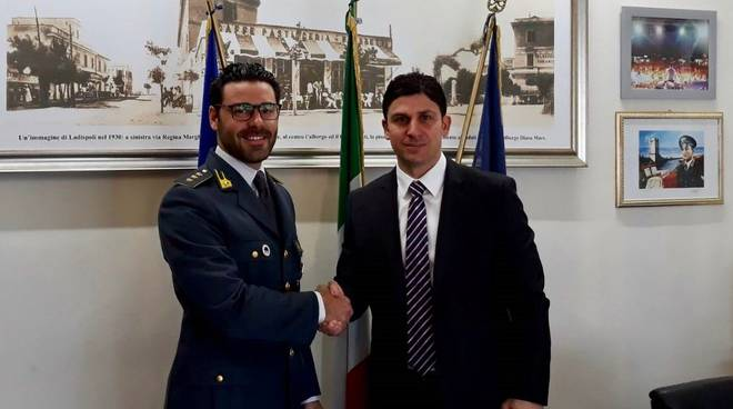 Ladispoli sindaco Grando e capitano Spanò