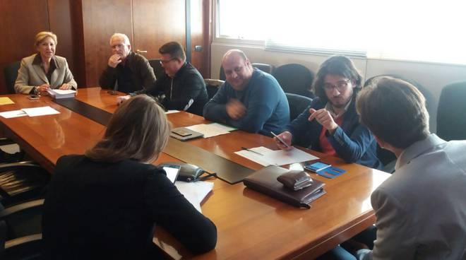 Lavoratori aeroporto Fiumicino incontro Anselmi Bonanni sindacati