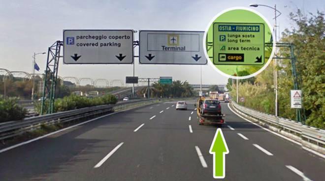 Parcheggiare sull'autostrada Roma-Fiumicino? Inutile, le ...