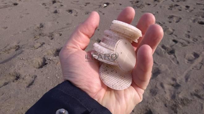 Tarquinia, invasione senza fine di dischetti di plastica