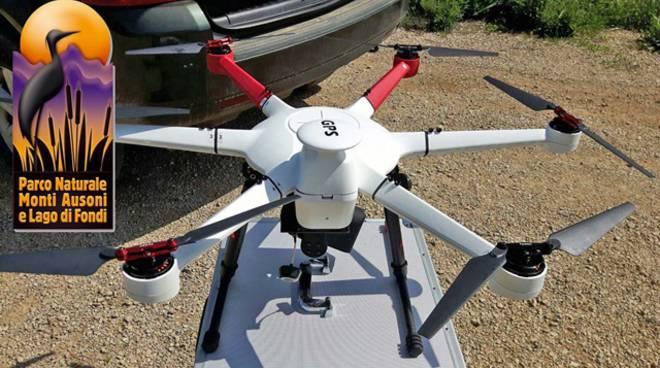 Uno dei nuovi droni del Parco dei Monti Ausoni