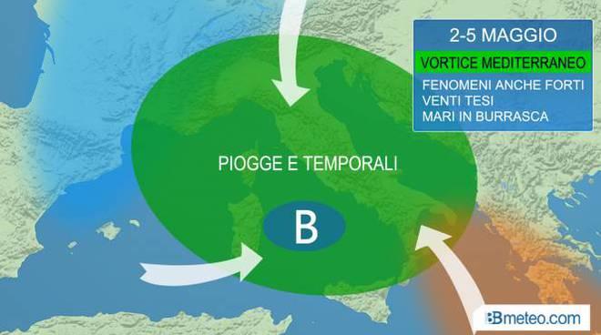 Sardegna, allerta meteo fino mezzanotte