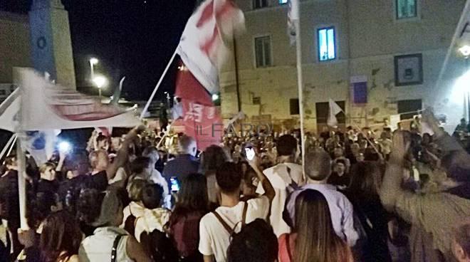festa montino rieletto sindaco di Fiumicino