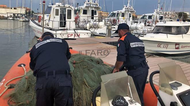 sequestro reti da pesca