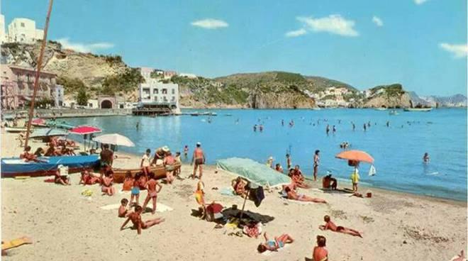 Foto d'epoca della spiaggia di Giancos