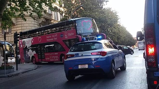 polizia traffico roma