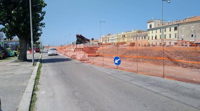 lavori a viale Traiano a Fiumicino