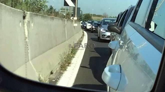 traffico restringimento  viadotto della Magliana