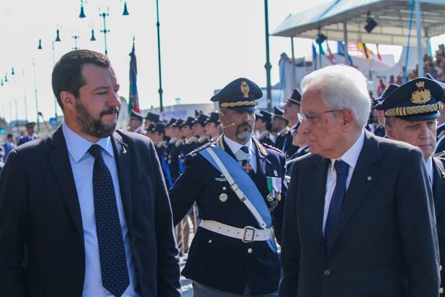 Salvini e Mattarella a Ostia
