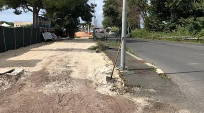 Fiumicino, al via i lavori per la realizzazione della rotonda di via Portuense