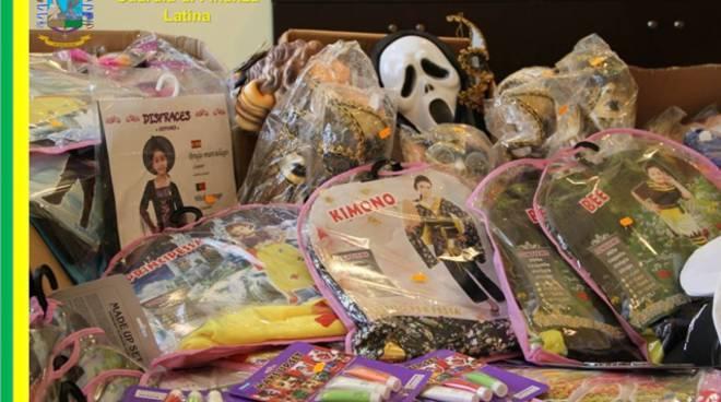 Formia, le Fiamme Gialle sequestrano oltre 10mila oggetti a tema Halloween