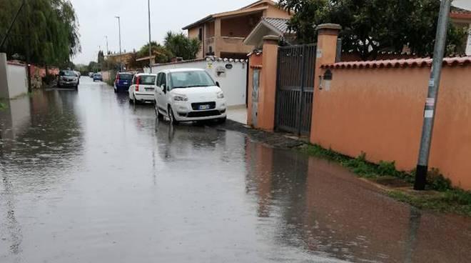 strade allagate fiumicino