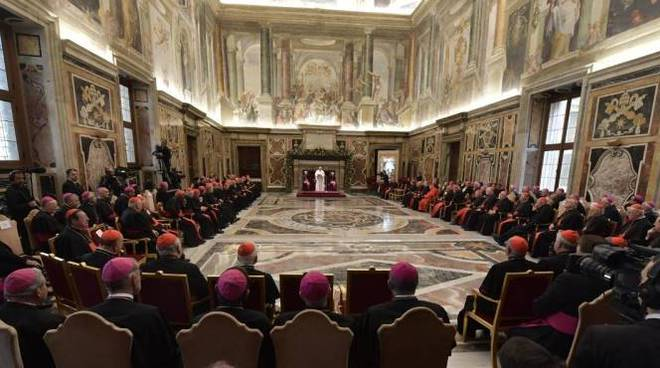 papa francesco curia romana natale