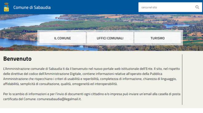 sito istituzionale comune sabaudia
