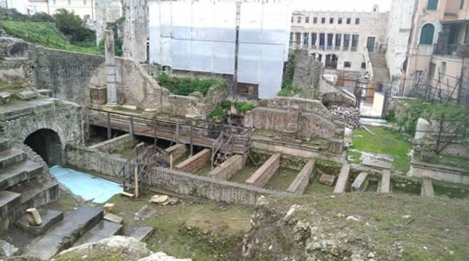 Terracina, il cantiere del Teatro Romano