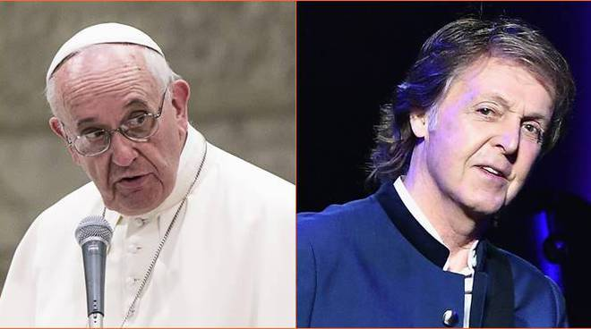 papa francesco paul mccartney