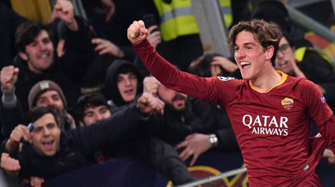 zaniolo as roma champions league