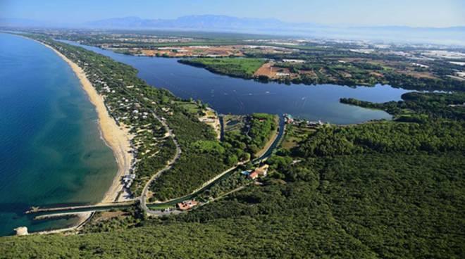 Panoramica del Lago di Paola, Sabaudia