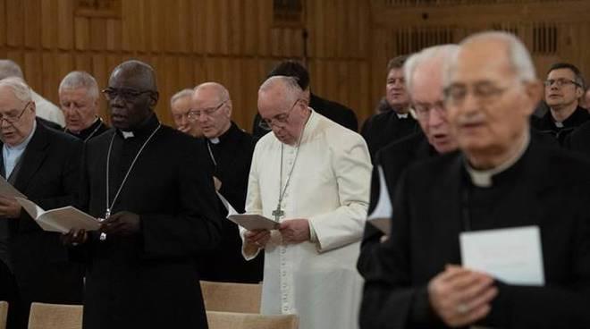 papa francesco ariccia esercizi spirituali