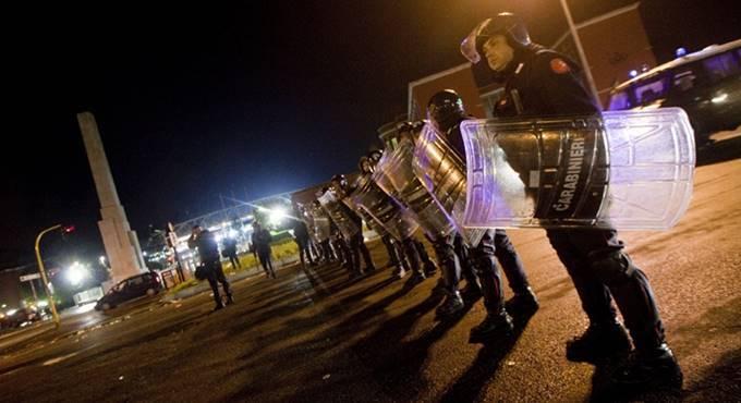 sicurezza stadio olimpico roma polizotti