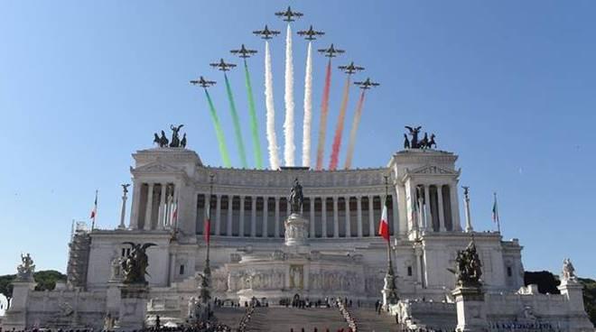 frecce tricolori altare della patria