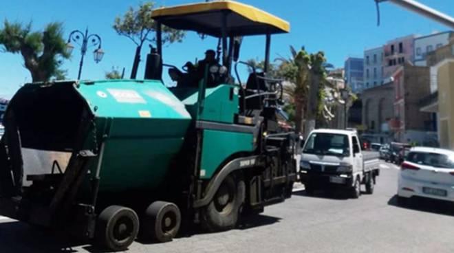 Ponza, al via i lavori di rifacimento stradale
