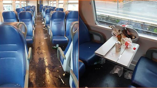 vandali ultras treno ladispoli