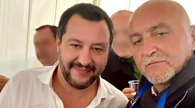 Mauro Gonnelli con Matteo Salvini