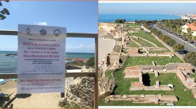 divieto sosta parco archeologico anzio