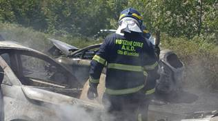 incendio auto via portuense