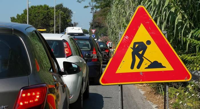 lavori in corso via portuense fiumicino traffico