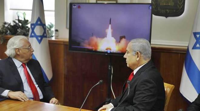test missili israele