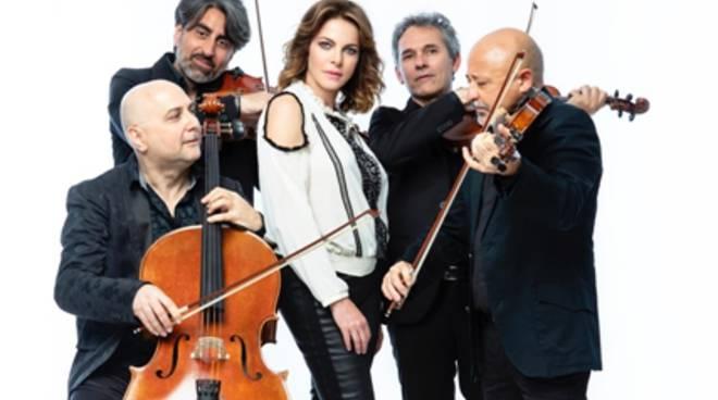 """Artcity 2019, a Minturno Claudia Gerini e Solis string quartet in """"Qualche estate fa"""""""